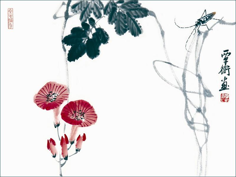 其书画作品既能看到海派风格,岭南画派风格,还能看到还从油画和水彩画