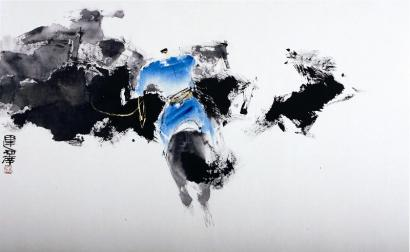 据了解,画家肖运泽专攻水墨写意动物画,尤其擅长水墨骏马和兔子.